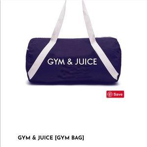 Gym & Juice Barrel Denim Gym Bag